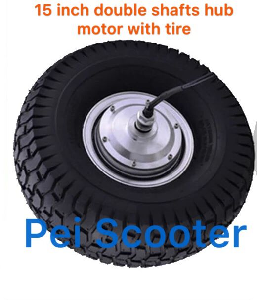 15 Inch Tires >> 15inch 15 Inch 15x6 00 6 Tire Bldc Double Shafts Brushless No Gear Dc Hub Lawn Mower Motor For Scooter Diy With Tire Phub 210
