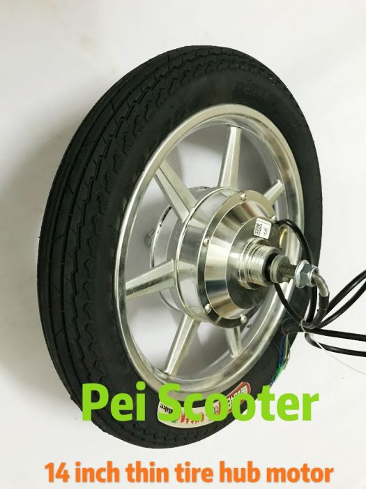 14inch one wheel scooter double axles dc wheel hub motor BLDC Brushless  non-gear kind phub-121