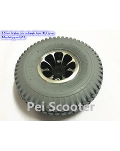 10 inch electric wheelchair PU tyre wheel ppwt-03