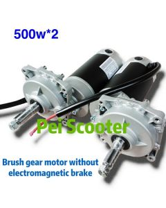 1000w brushed geared electric scooter dc motor 500w*2 without electromagnetic brake PESM78S