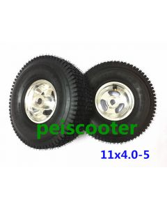 11x4.0-5 wide tyre hub wheel for wheelchair motor DIY and mobility scooter motor phub-11wt
