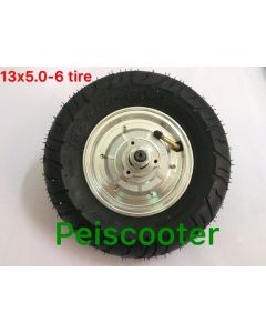 13 inch 13inch double shafts brushless non-gear electric scooter hub motor 180-500w phub-77
