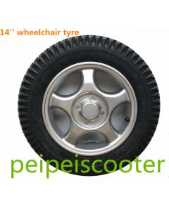 14 inch Aluminum alloy rim wheel for wheelchair motor ppwt-01