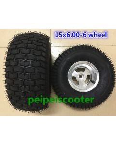 15x6.00-6 wide tyre hub wheel for wheelchair DIY motor and scooter motor phub-15wt