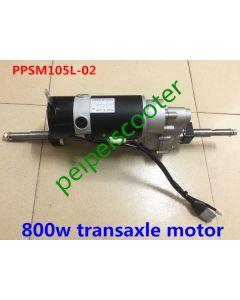 24v 800w Brushed gear mobility scooter transaxle motor good quality with electromagnetic brake PPSM105L-02