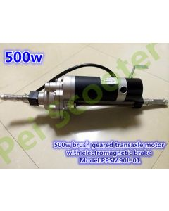 500w brushed electric scooter geared 500w transaxle motor with the electromagnetic brake strong power PPSM90L-01