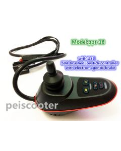 50A brushed electric wheelchair scooter joystick controller with electromagnetic brake with USB pps-18