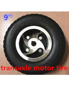 9 inch 9x3.50-4 solid tyre for transaxle motor mobility scooter tyre kit phub-160