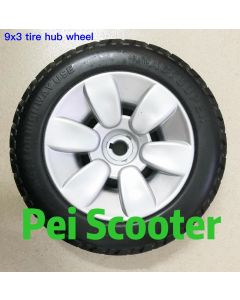 9 inch 9x3 electric wheelchair PU tyre ppwt-02