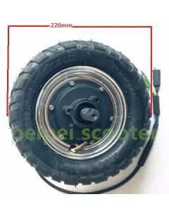 9 inch vacuum tire brushless gearless wheel hub motor for scooter motor with tyre phub-109z