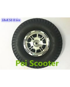 18inch 18 inch 18*8.5-8 aluminum alloy hub wheel tires for wheelchair scooter robot motor phub-18st