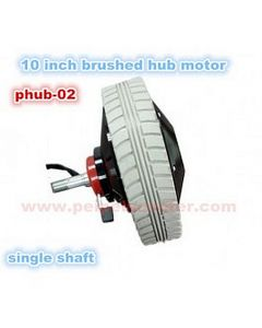 10 inch brush gear hub motor 300w with electric magnetic brake wheelchair motor phub-02