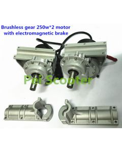 High torque Brushless gear wheelchair 250w*2 motor with electromagnetic brake PWMC-01