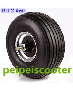15inch 15 inch widen tire 15x6.00-6 tyre BLDC brushless non-gear hub wheel motor for scooter phub-181