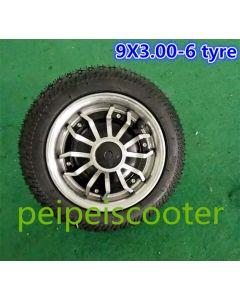 9inch 9 inch single shaft brushless gearless dc hub wheel motor with 9X3.00-6 tire phub-168