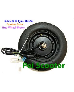 13inch 13 inch 13x5.00-8 tyre double shafts BLDC brushless non-gear hub wheel motor for scooter phub-182
