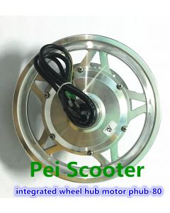 12inch (or 14inch tire) integrated 250w wheel hub motor for electric bicycle scooter wheel with tire phub-80