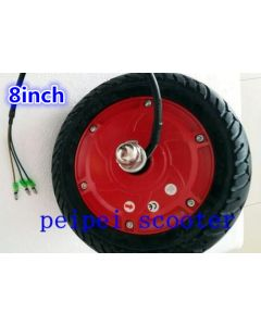 8inch BLDC 250-350w brushless non-tooth double shafts dc wheel hub motor for scooter diy phub-92