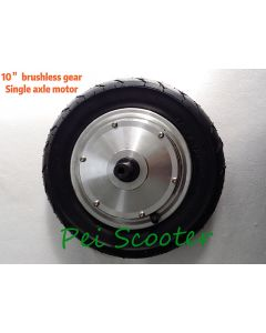 10 inch 10inch single shaft brushless geared dc hub motor with hall 250w and tyre scooter motor phub-85sa