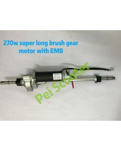 Long shaft brushed electric scooter transaxle motor with electromagnetic brake 270w PPSM730L-01