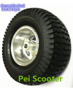 Superwide tyre 13x6.50-6 and 13x5.00-6 hub wheel for scooter DIY and lawnmower to matching our some transaxle motor phub-133
