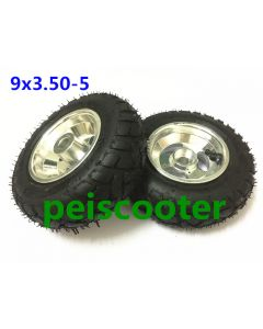 9x3.50-5 wide tyre hub wheel for wheelchair DIY motor and scooter motor phub-9wt